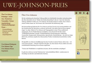 Website: Uwe Johnson Preis